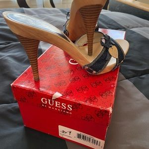 Guess by Marciano Denim open toes sandals